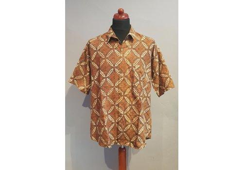 Batik overhemd korte mouw 0612-02