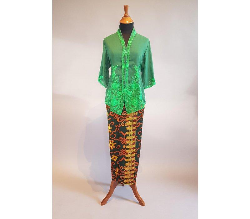 Kebaya klassiek groen met bijpassende sarong