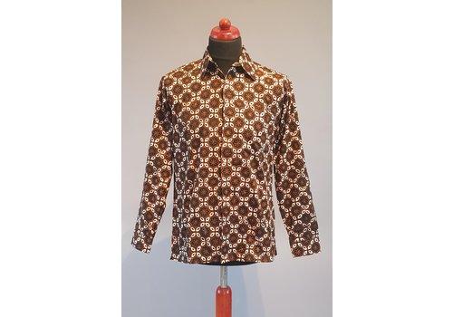 Batik overhemd lange mouw 0401-09