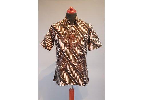 Batik overhemd korte mouw 0401-10