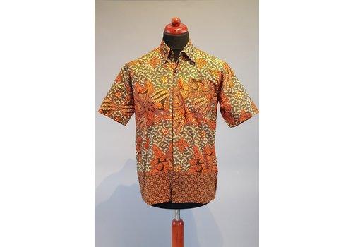 Batik overhemd korte mouw 0401-13