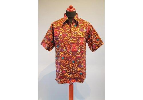 Batik overhemd korte mouw 0401-17