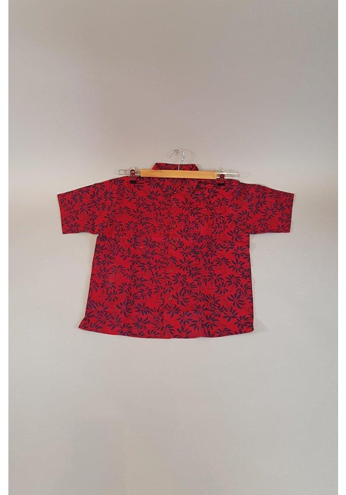 Kinder batik overhemd korte mouw 0901-06