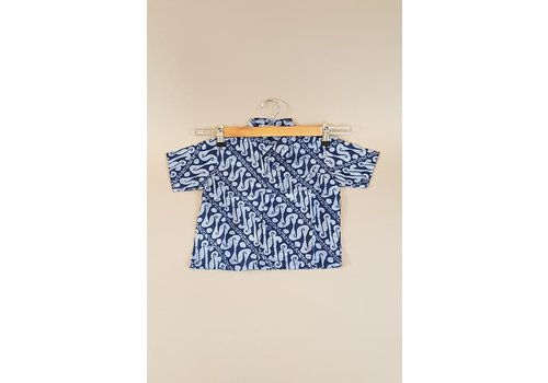 Kinder batik overhemd korte mouw 0901-07