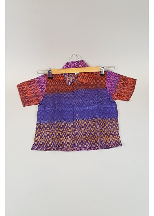 Kinder batik overhemd korte mouw 0901-08
