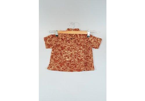Kinder batik overhemd korte mouw 0901-11