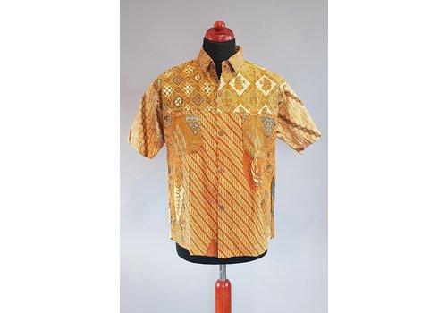 Batik overhemd korte mouw 0901-03