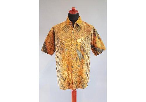 Batik overhemd korte mouw 0901-04