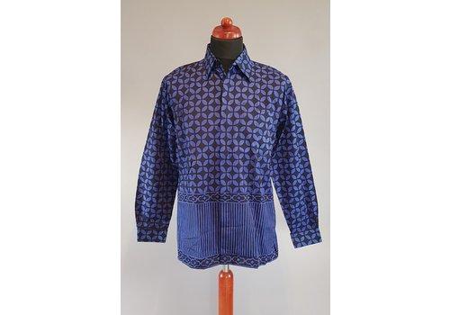 Batik overhemd lange mouw 0901-05