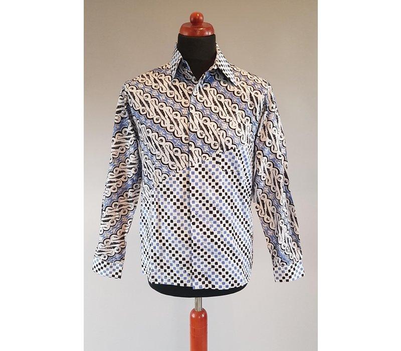 Batik overhemd lange mouw 1501-01