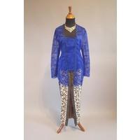 Kebaya midnite blue met bijpassende sarong