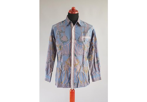Batik overhemd lange mouw 0302-01