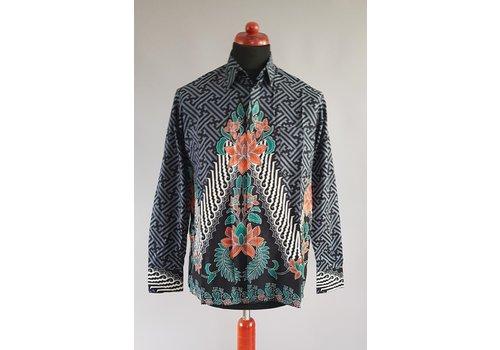 Batik overhemd lange mouw 0302-03