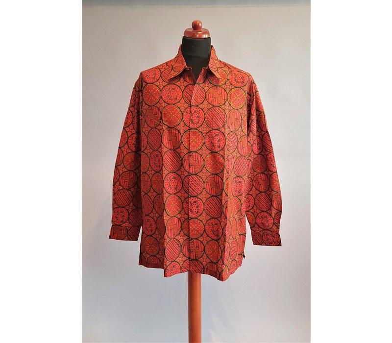 Batik overhemd lange mouw 1903-04