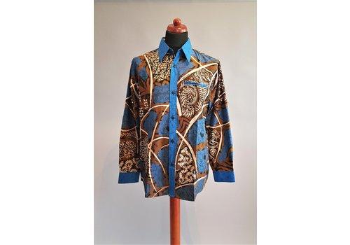 Batik overhemd lange mouw 1903-06