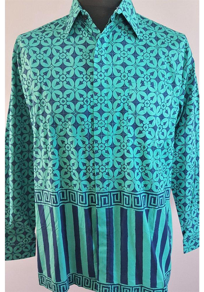 Batik overhemd lange mouw 2803-02