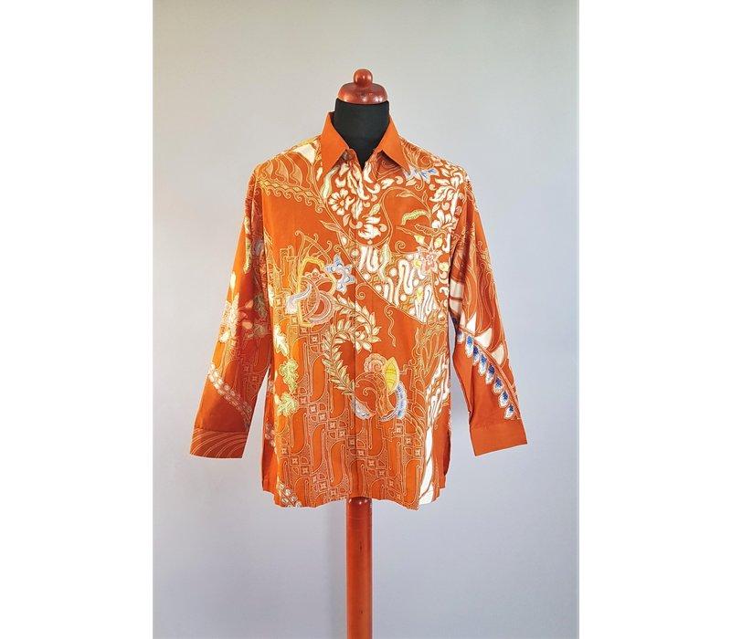 Batik overhemd lange mouw 2803-03
