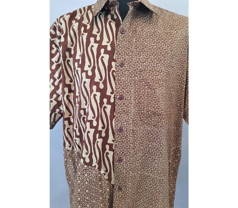 Batik overhemd korte mouw 1605-01