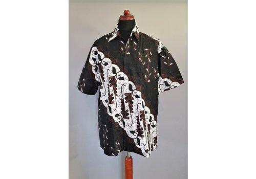 Batik overhemd korte mouw 0306-01