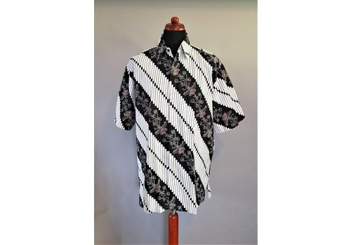 Batik overhemd korte mouw 0306-02