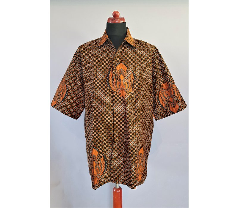 Batik overhemd korte mouw 0306-03