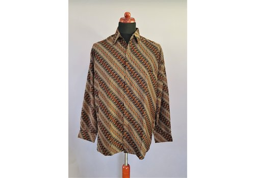Batik overhemd lange mouw 0306-04