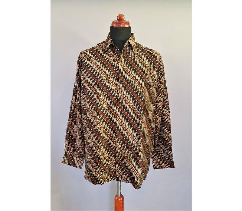 Batik overhemd korte mouw 0306-04