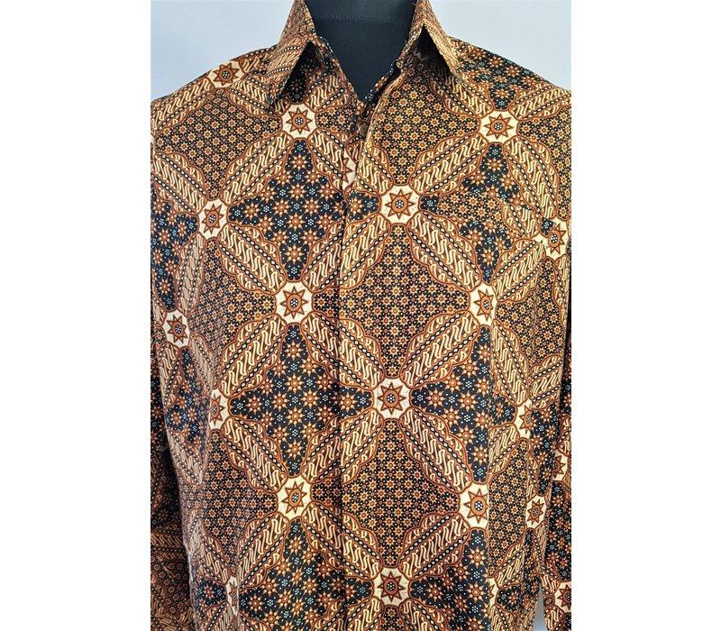 Batik overhemd lange mouw 0306-05