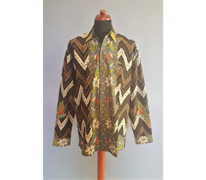 Batik overhemd lange mouw 0908-02