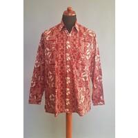 Batik overhemd lange mouw 0908-03