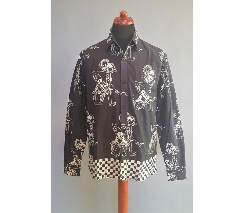 Batik overhemd lange mouw 0908-05