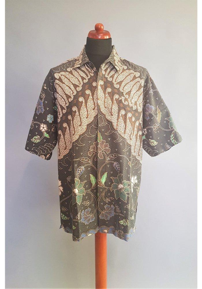 Batik overhemd korte mouw 0908-08