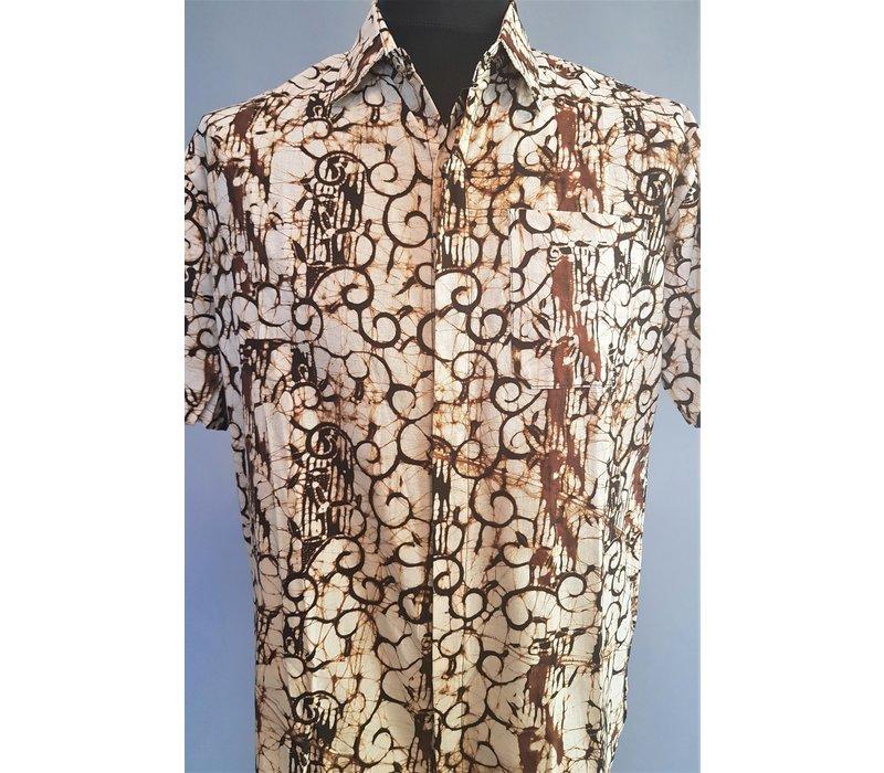 Batik overhemd korte mouw 0908-09