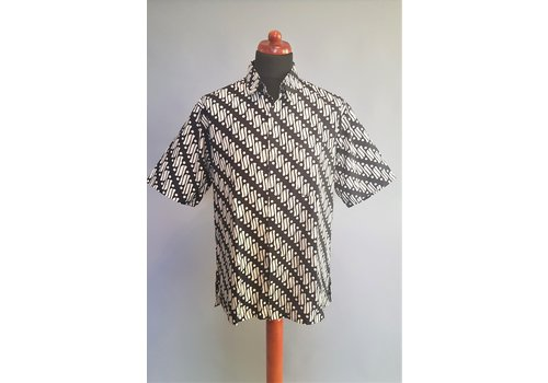 Batik overhemd korte mouw 0908-10