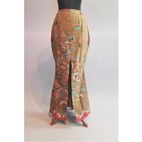 Bruids kebaya modern turquoise met bijpassende sarong