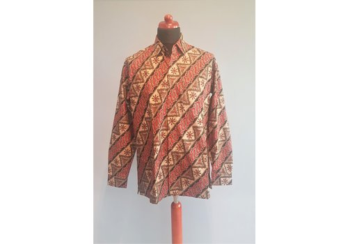 Batik overhemd lange mouw 0611-01