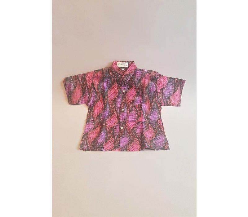 Kinder batik overhemd korte mouw 1311-02