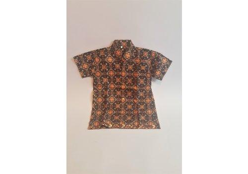 Kinder batik overhemd korte mouw 1311-03
