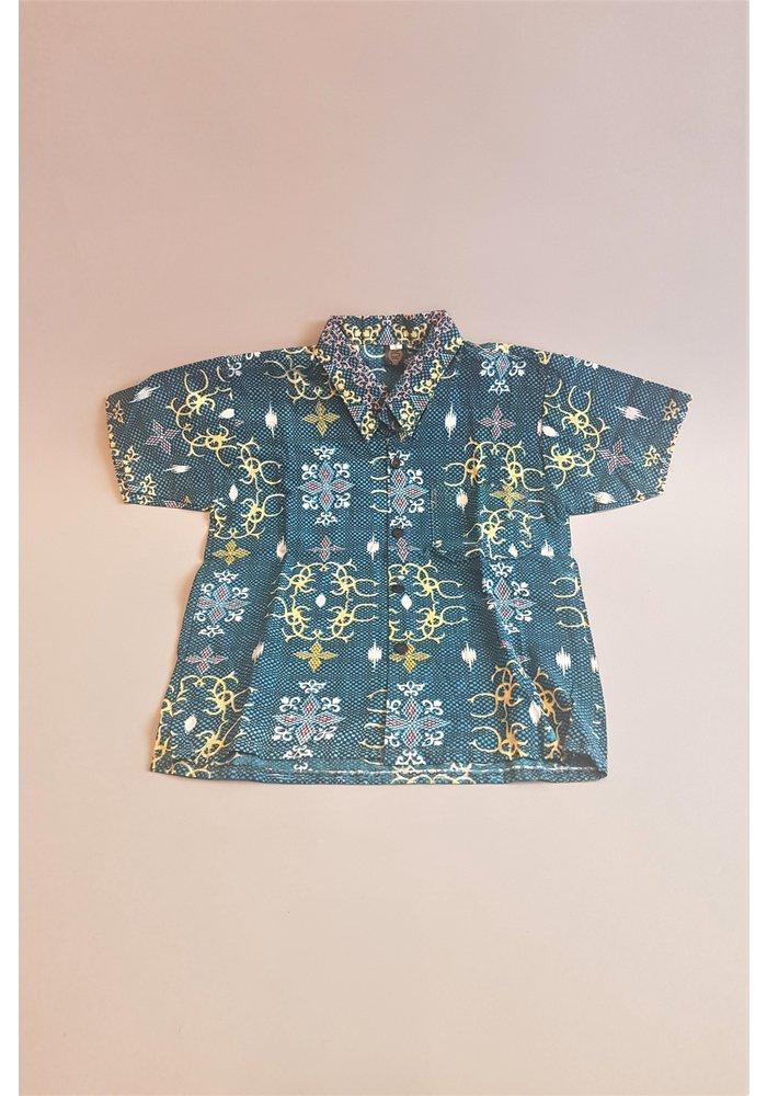 Kinder batik overhemd korte mouw 1311-04