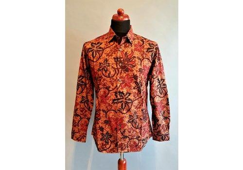 Batik overhemd lange mouw 0812-03