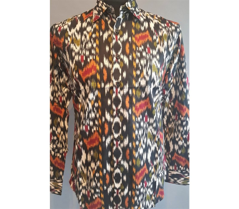 Batik overhemd lange mouw 0812-06