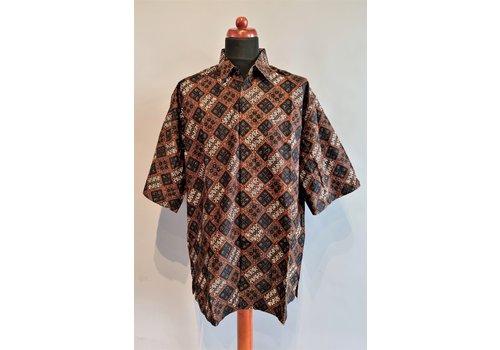 Batik overhemd korte mouw 0302-02