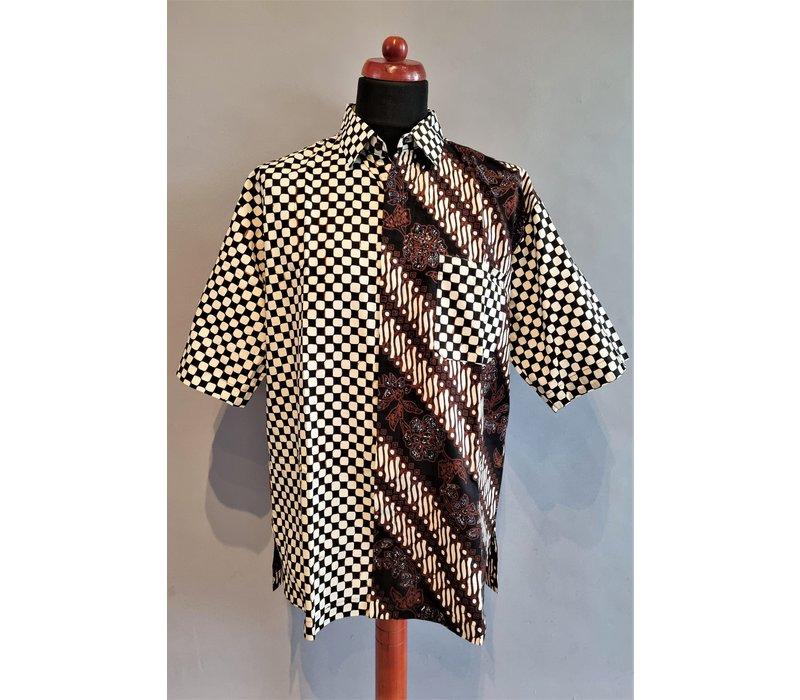 Batik overhemd korte mouw 0302-03