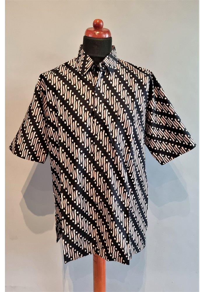 Batik overhemd korte mouw 0302-05