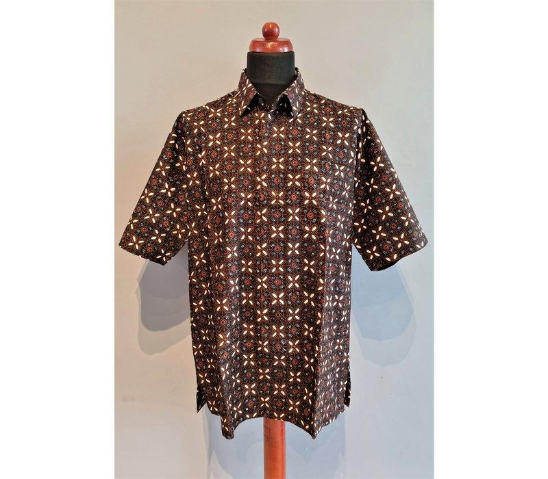 Batik overhemd korte mouw 0302-06