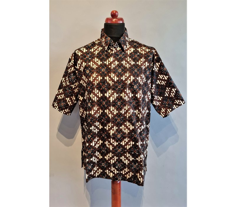 Batik overhemd korte mouw 0302-07