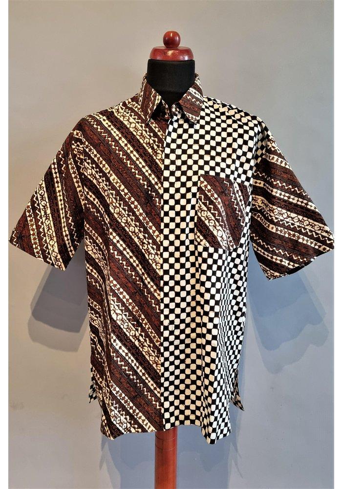Batik overhemd korte mouw 0302-08