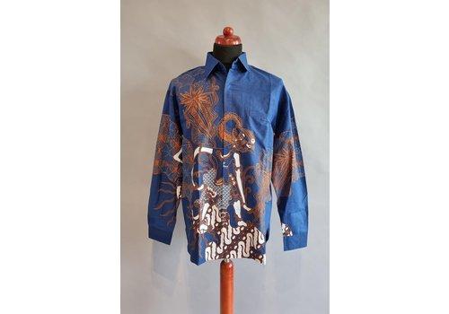 Batik overhemd lange mouw 0204-02
