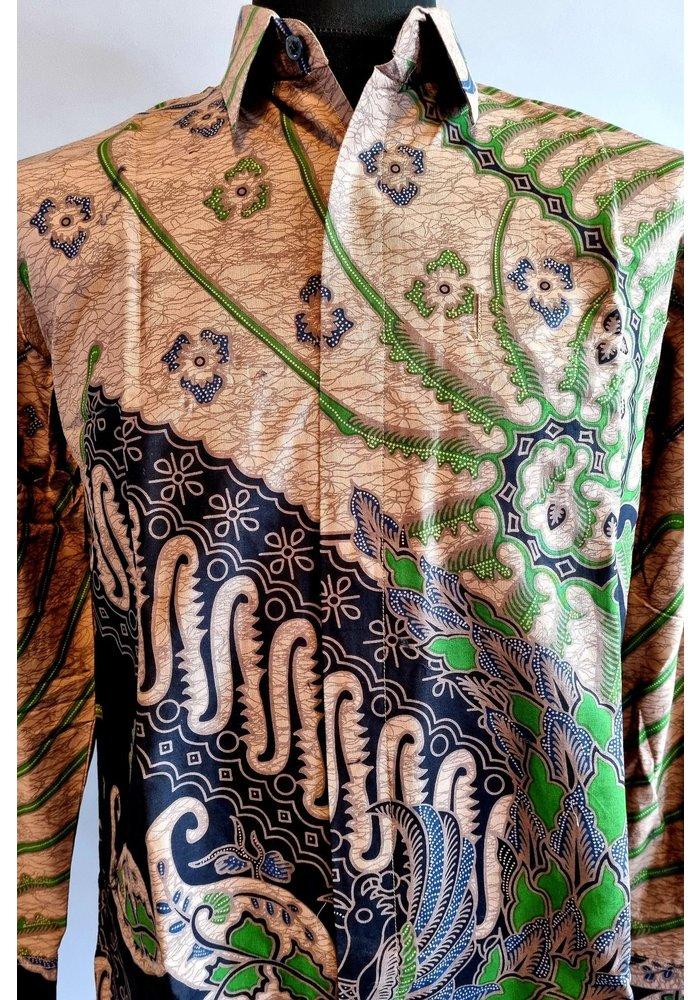 Batik overhemd lange mouw 0204-05
