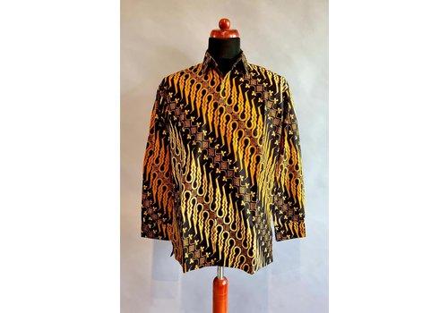 Batik overhemd lange mouw 0204-07
